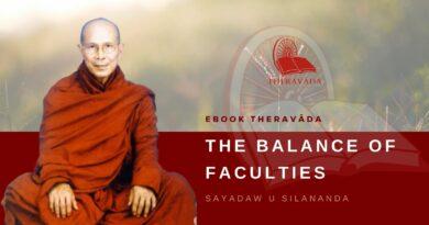 THE BALANCE OF FACULTIES - SAYADAW U SILANANDA