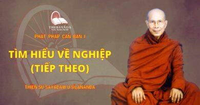 Phật Pháp Căn Bản Phần I - Tìm Hiểu Về Nghiệp (Tiếp Theo)