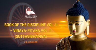BOOK OF THE DISCIPLINE VOL. II - VINAYA-PIṬAKA VOL. II (SUTTAVIBHAṄGA)