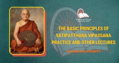 THE BASIC PRINCIPLES OF SATIPATTHANA VIPASSANA PRACTICE AND OTHER LECTURES - SAYADAW U PANDITA