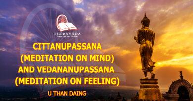 CITTANUPASSANA (MEDITATION ON MIND) AND VEDANANUPASSANA (MEDITATION ON FEELING) - U THAN DAING