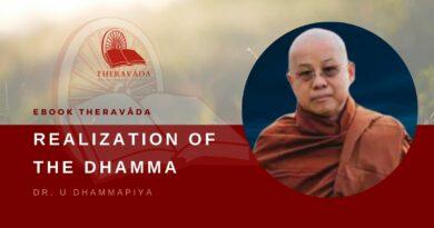 REALIZATION OF THE DHAMMA – DR. U DHAMMAPIYA