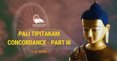 PALI TIPITAKAM CONCORDANCE PART III - E.M. HARE
