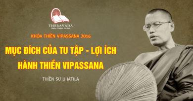 Videos 9. Mục Đích Của Tu Tập - Lợi Ích Hành Thiền Vipassana | Thiền Sư U Jatila - Khóa Thiền Năm 2016