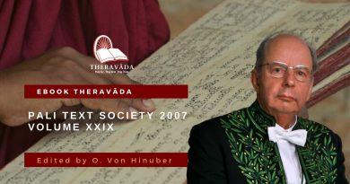 PALI TEXT SOCIETY 2007 VOLUME XXIX - O. VON HINUBER