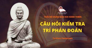 Thái Độ Đúng Đắn Khi Hành Thiền - Câu Hỏi Kiểm Tra Trí Phán Đoán