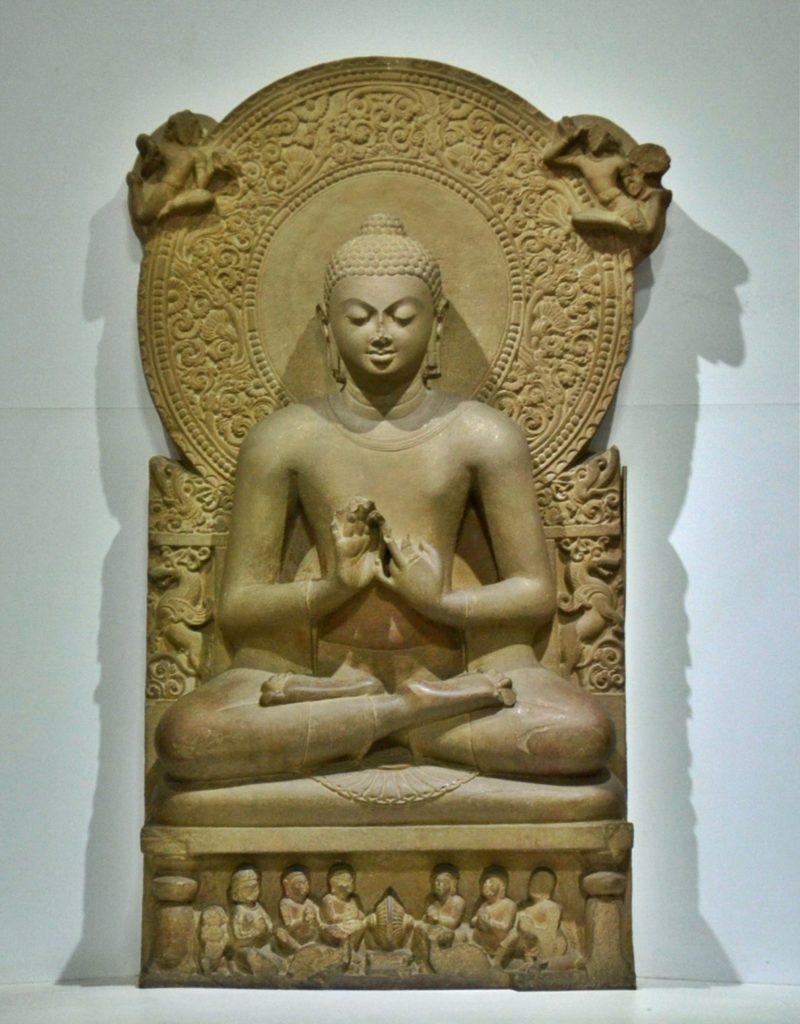 Buddha in Sarnath Museum Dhammajak Mutra