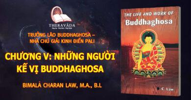 CHƯƠNG V: NHỮNG NGƯỜI KẾ VỊ BUDDHAGHOSA