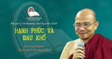 BÀI GIẢNG SƯ TOẠI KHANH HOUSTON 2020 - HẠNH PHÚC VÀ ĐAU KHỔ
