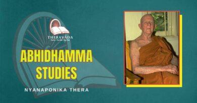 ABHIDHAMMA STUDIES - NYANAPONIKA THERA
