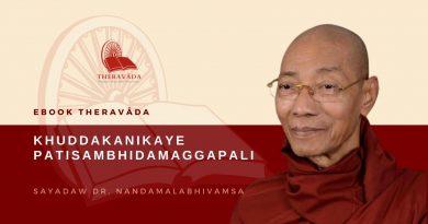 KHUDDAKANIKAYE PATISAMBHIDAMAGGAPALI - SAYADAW DR. NANDAMALABHIVAMSA
