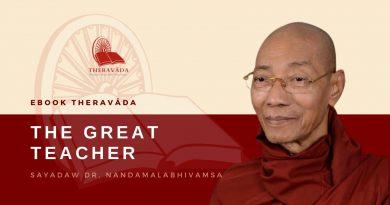THE GREAT TEACHER - SAYADAW DR. NANDAMALABHIVAMSA