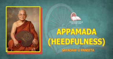 APPAMADA (HEEDFULNESS) - SAYADAW U PANDITABHIVAMSA