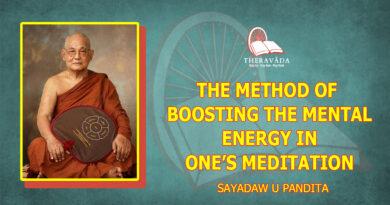 THE METHOD OF BOOSTING THE MENTAL ENERGY IN ONE'S MEDITATION - SAYADAW U PANDITABHIVAMSA