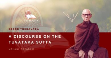 A DISCOURSE ON THE TUVAṬAKA SUTTA - MAHĀSI SAYĀDAW